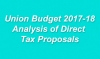 Union Budget 2017-18 - Analysis of Direct Tax Proposals