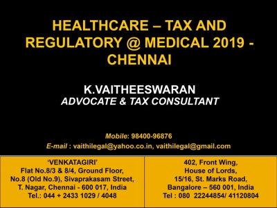 Healthcare - Tax and Regulatory - Direct Taxes