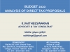Union Budget 2020-21 - Analysis of Direct Tax Proposals